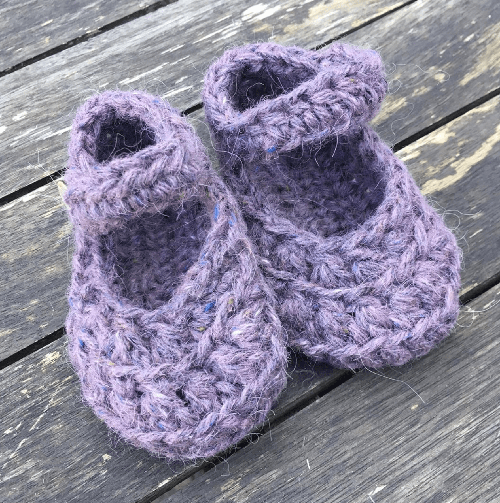 Lilac Crocheted Booties