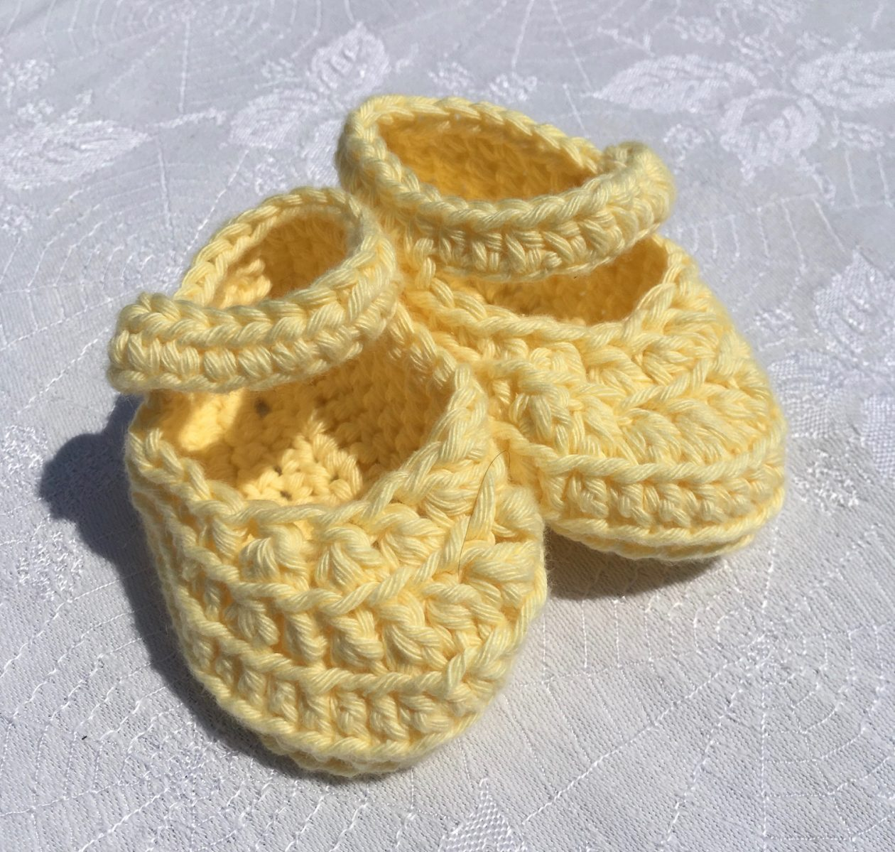 Crochet Booties – Organic Cotton  Primrose Yellow